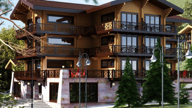 Гостиница из бруса 1057 м2