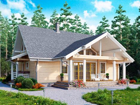Дом из клееного бруса КЛЁН-150