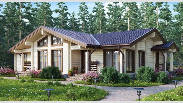 Одноэтажный дом КЛЁН-121