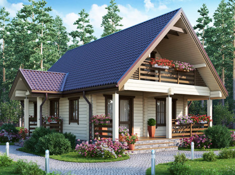 Дом мансардный КЛЁН-107