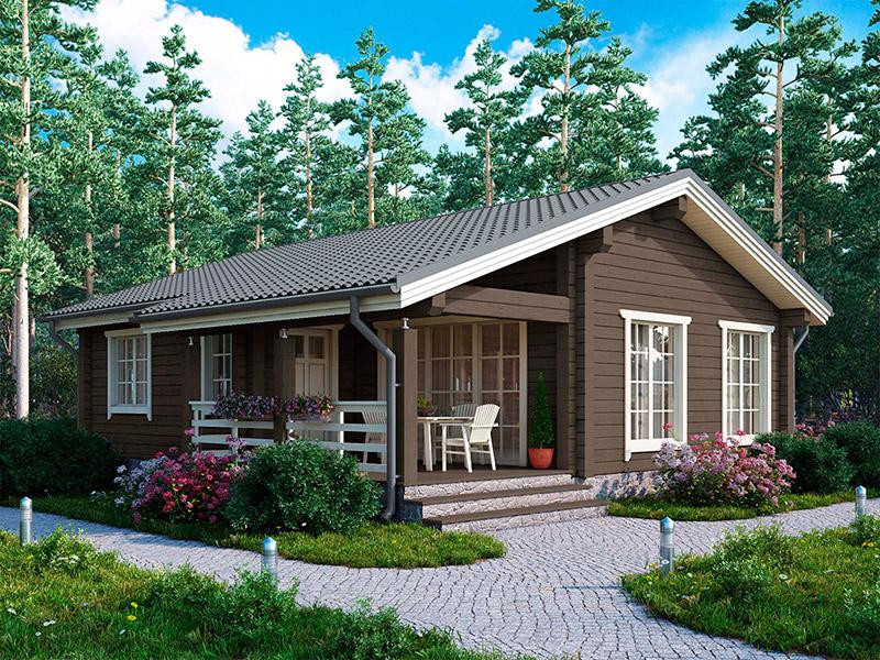 красивые одноэтажные деревянные дома проекты фото понравилась