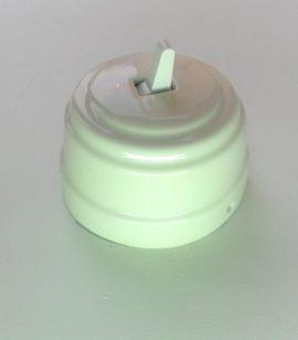 Выключатель БЕЛЫЙ керамический