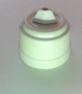 Выключатель для люстры БЕЛЫЙ фарфоровый