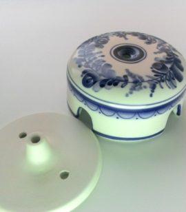 Коробка распаечная керамическая ГЖЕЛЬ (Россия)