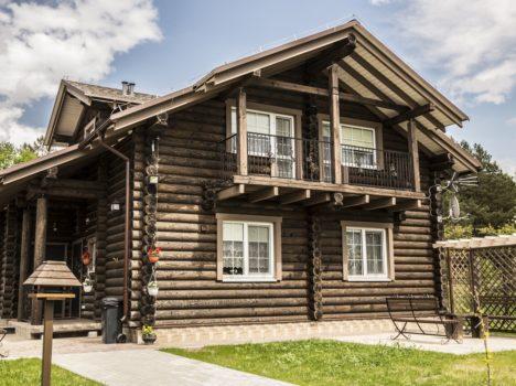 Фото домов из бревна