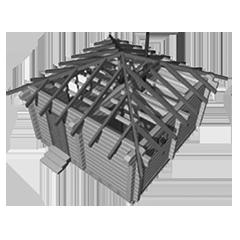 Сборка сруба бани под крышу