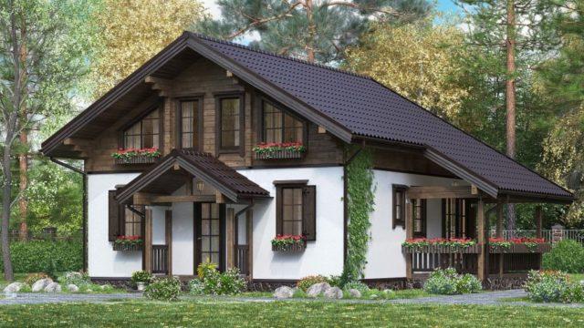 Дом в стиле шале 159 м2