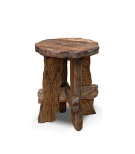 Арт. № МБ-0401/2 Табурет деревянный под старину