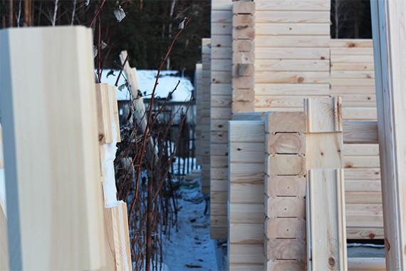 Сборка деревянных домов из профилированного бруса