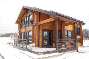 покраска деревянного дома на заводе заказать