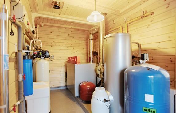 монтаж отопления водопровода в деревянном доме