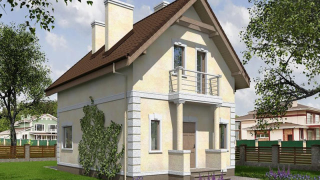Дом КБ-107,4 из блоков
