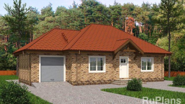 Проект дома с гаражом КБ-114