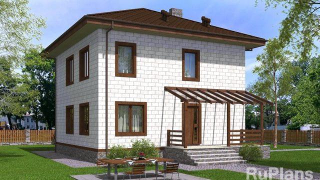 Проект кирпичного дома КБ-122