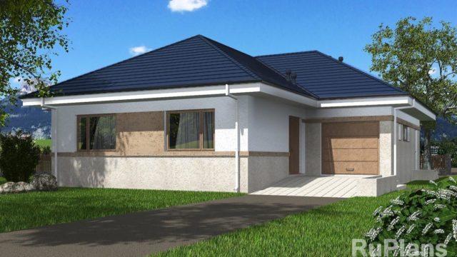 Проект дома с гаражом КБ-143