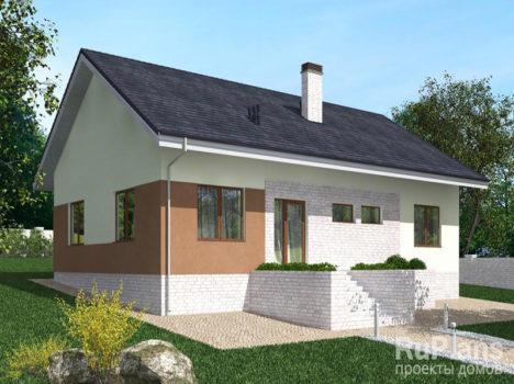 Проект дома с гаражом КБ-115