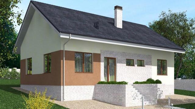 Проект одноэтажного дома КБ-115